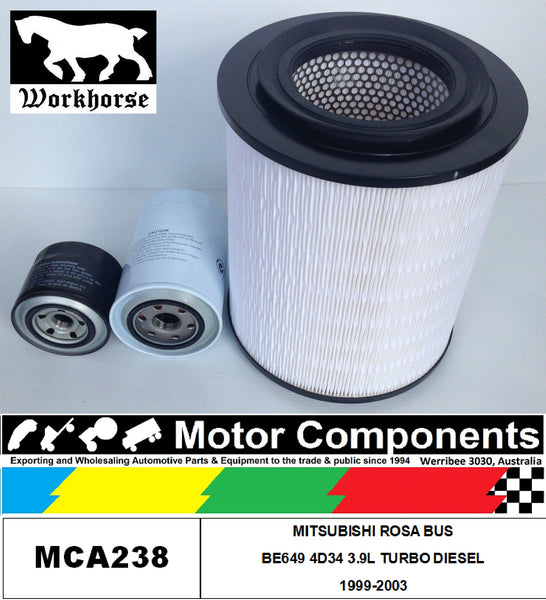 FILTER Service Kit MITSUBISHI FUSO ROSA BE649 4D34 3.9L TURBO DIESEL 1999-2003