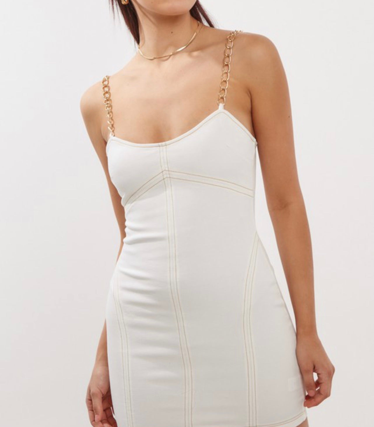 Chain Me White Dress