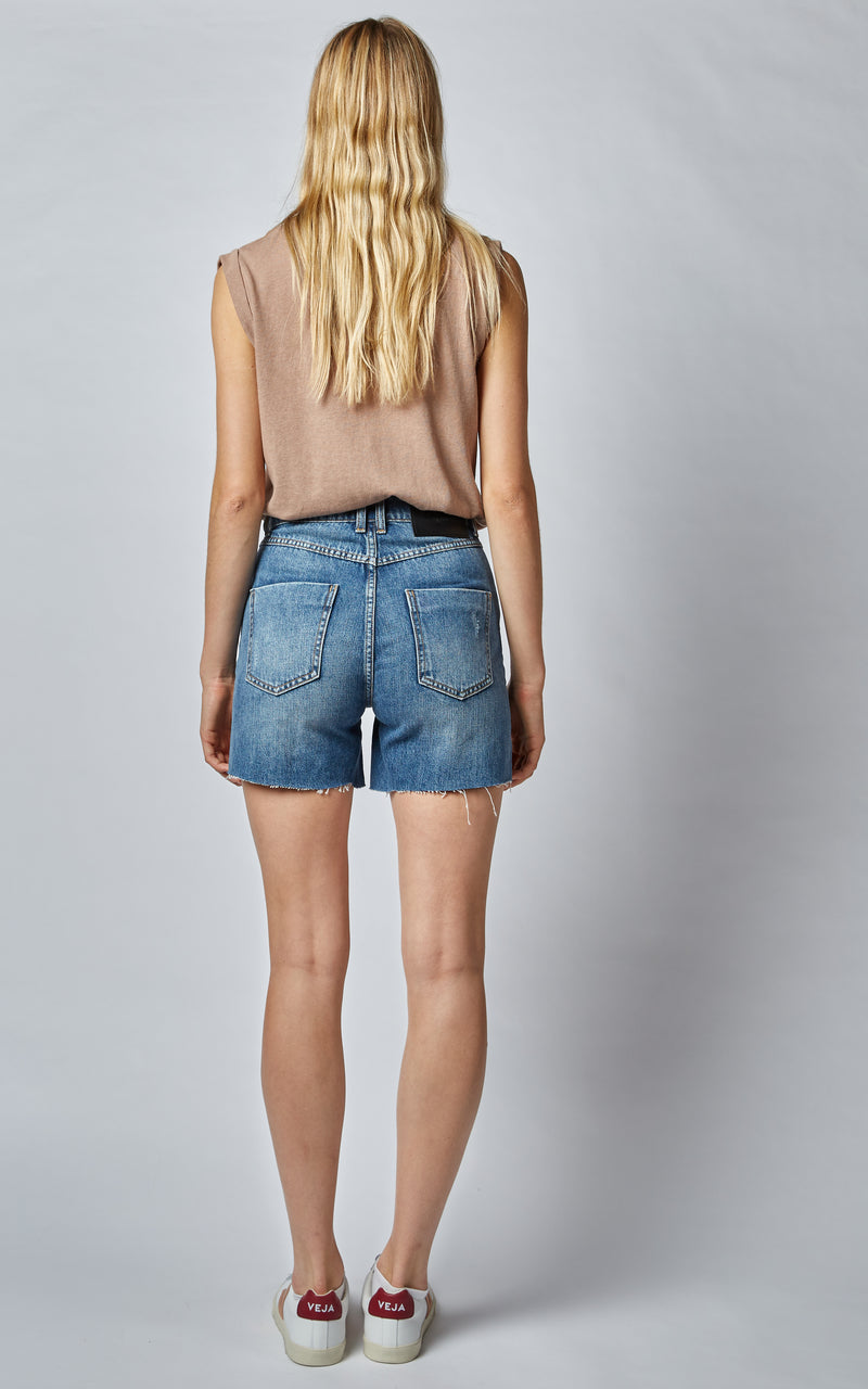 90'S MIDNIGHT BLUE HIGH WAISTED SHORTS