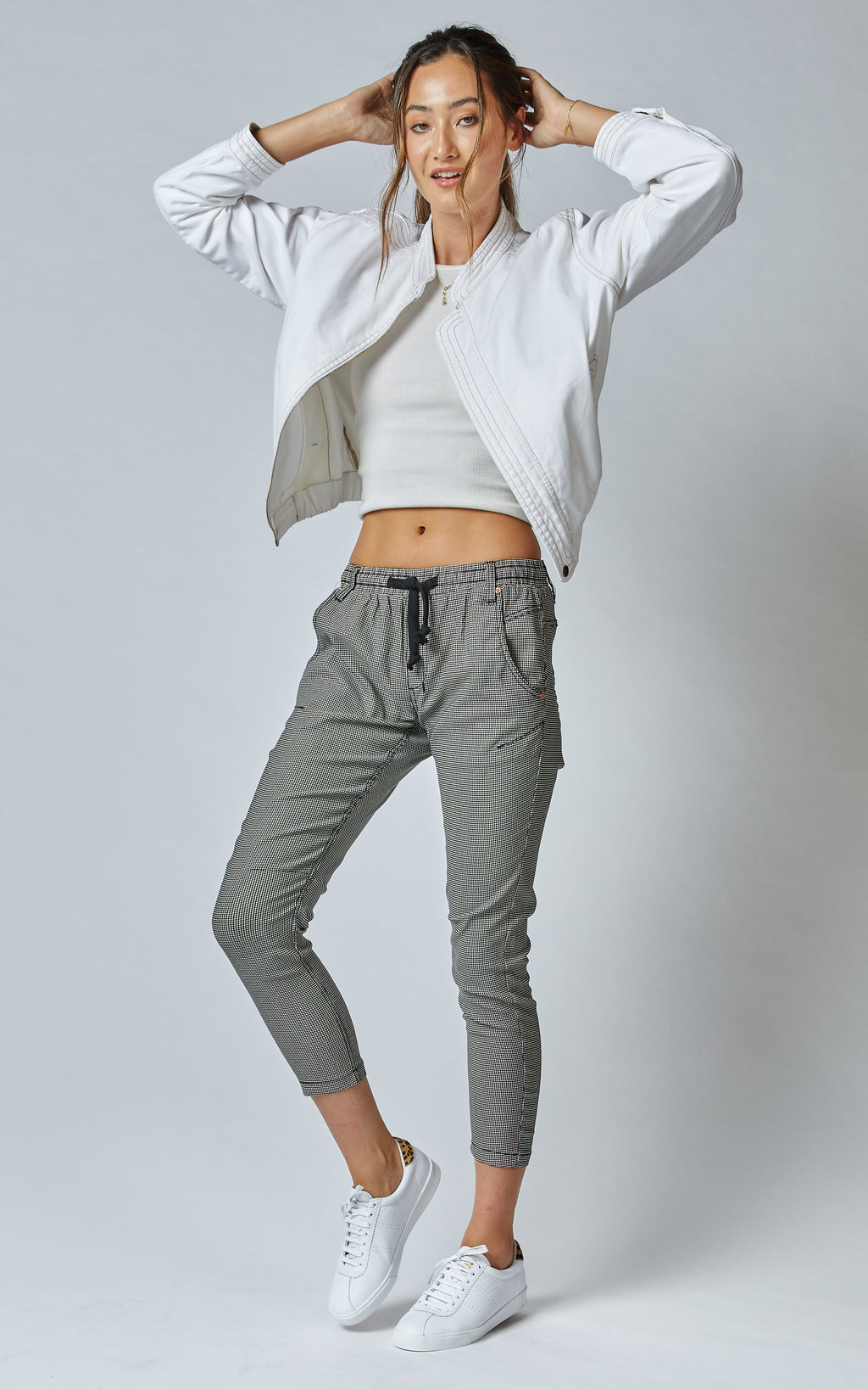 Active Khaki Check Jeans