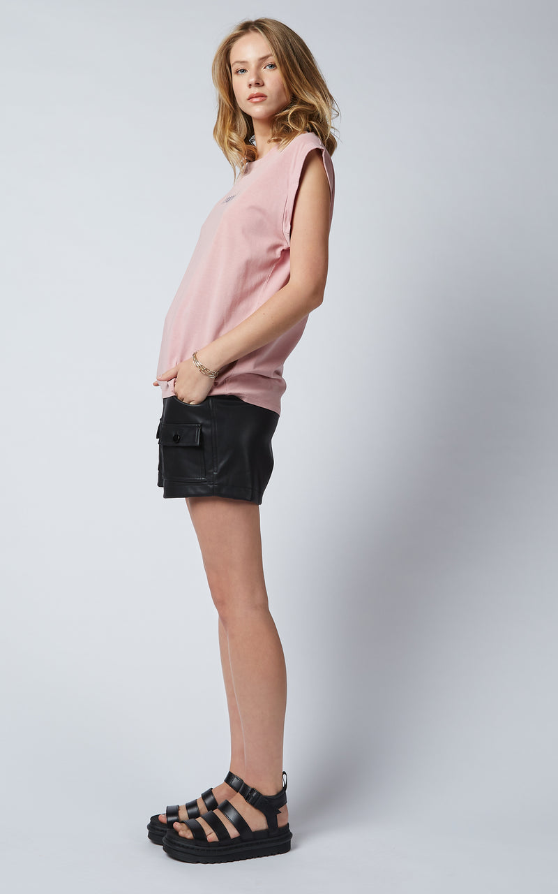 BAGGIE MUSCLE DUSTY PINK TEE