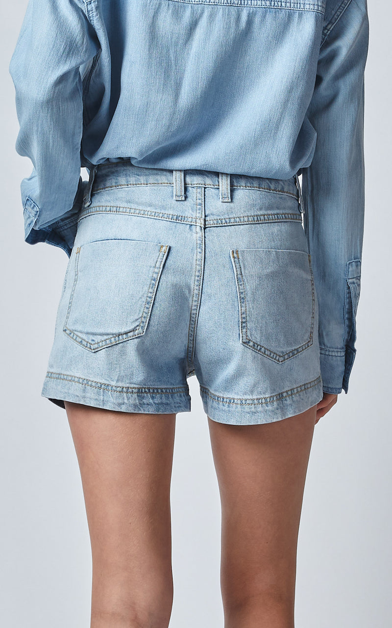 BELL HIGH WAISTED WORN OUT SHORTS
