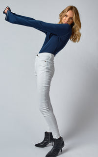 DCD HIGH COATED WHITE JEANS
