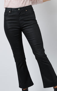 COATED FLARE JEANS