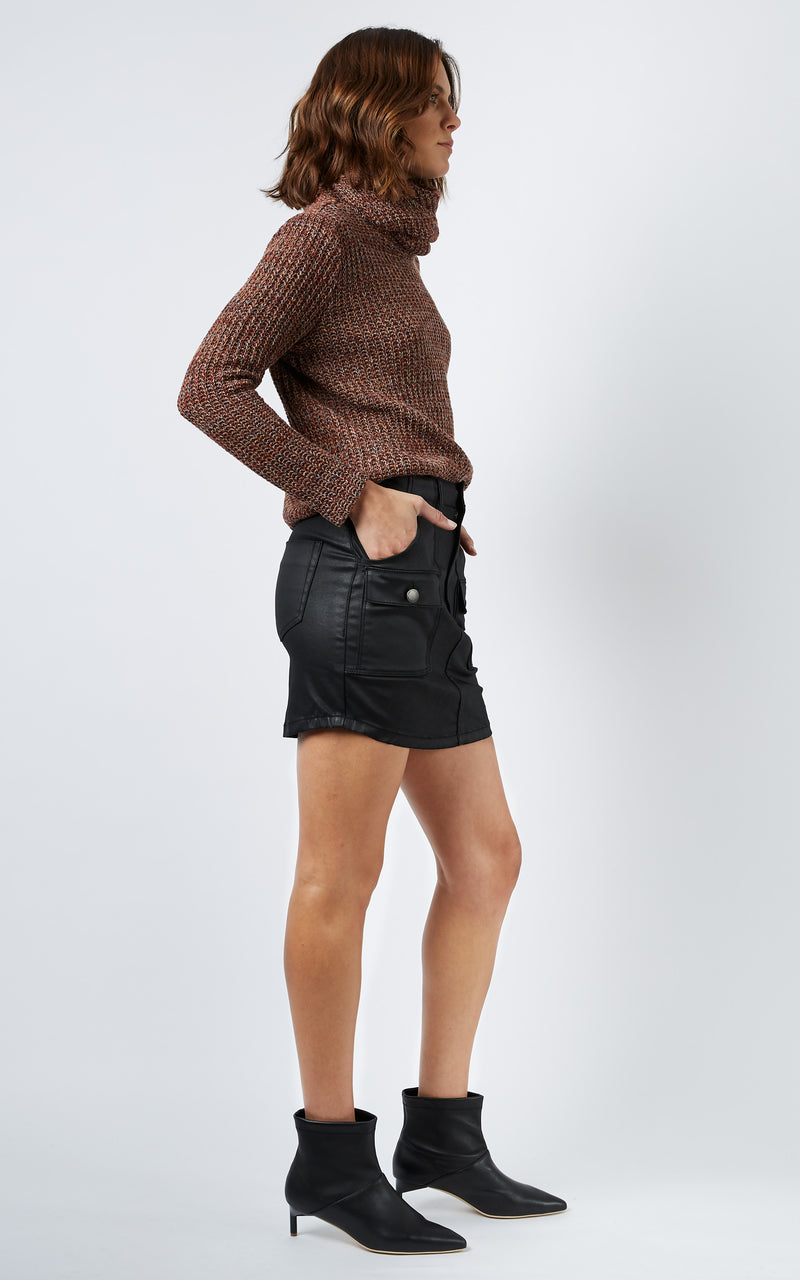 COATED UTILITY SKIRT