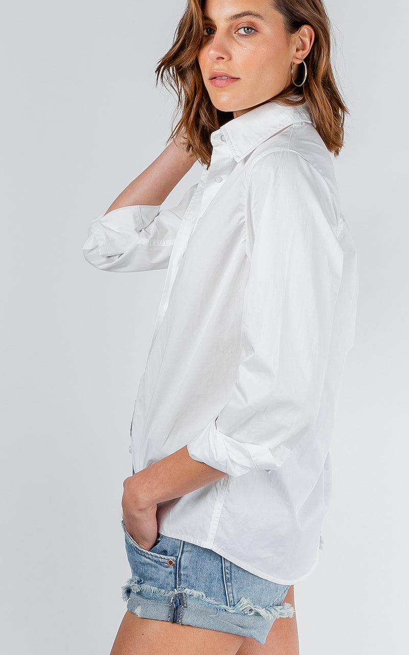 JAYDA COTTON WHITE SHIRT