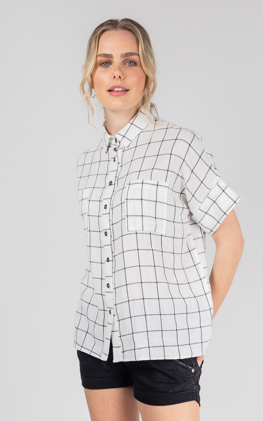 KATKA CHECK LINEN SHIRT