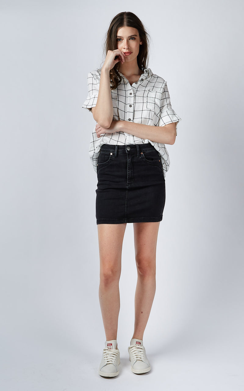 LEAH HIGH WAISTED BLACK SKIRT