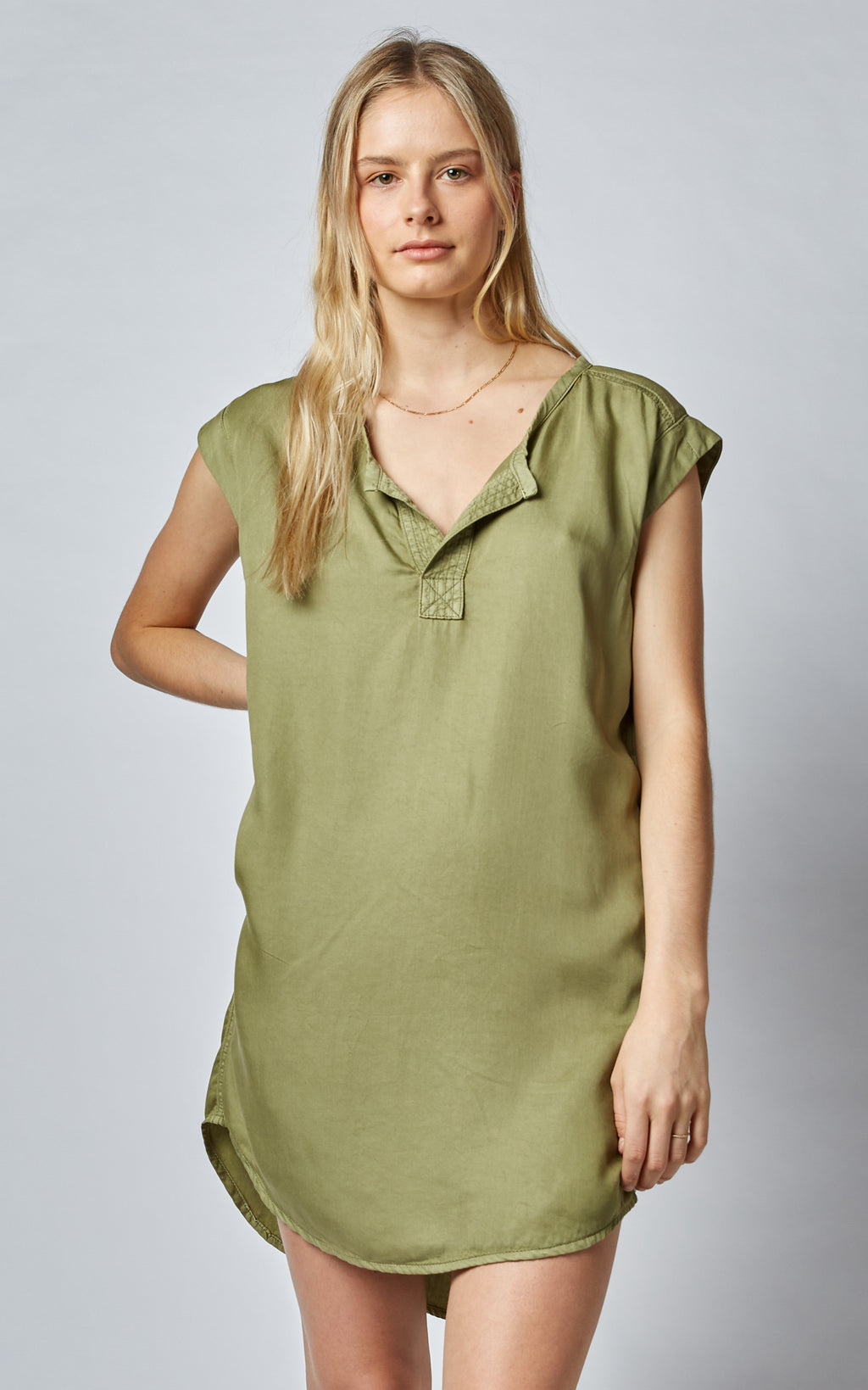 NOVIA TENCEL LOOSE TUNIC DRESS