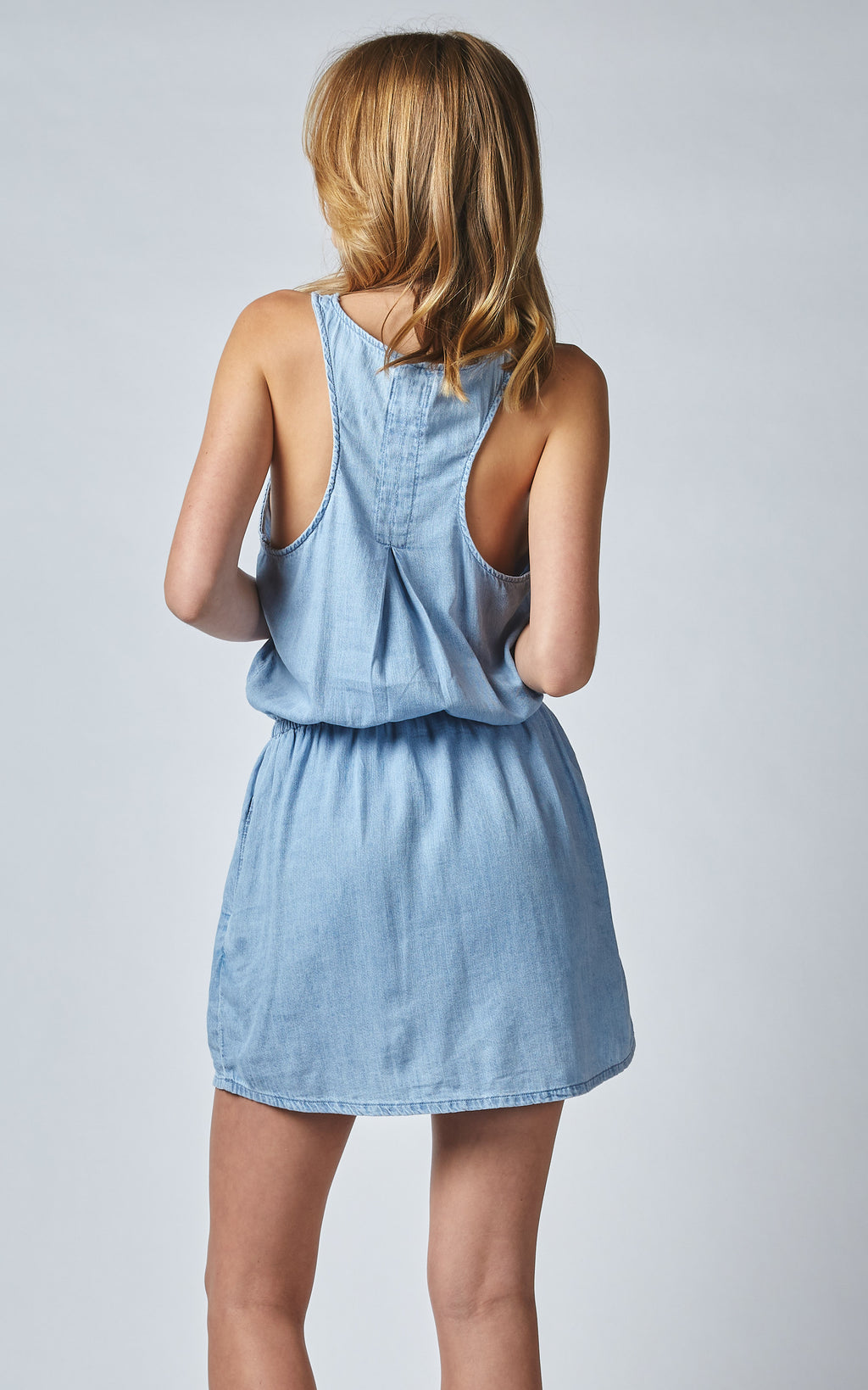 ORIA SPORTY LINEN DENIM DRESS