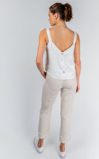 TAILORED LINEN PANTS