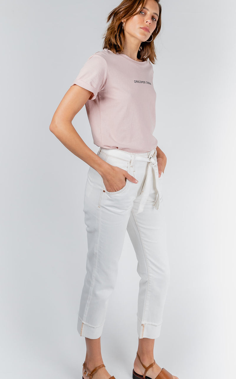 TAILORED HIGH WAISTED WHITE PANTS