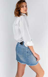 VINTAGE CUT OFF DENIM SKIRT