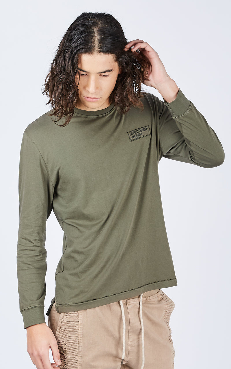 BIBBY LONG ARMY GREEN TEE