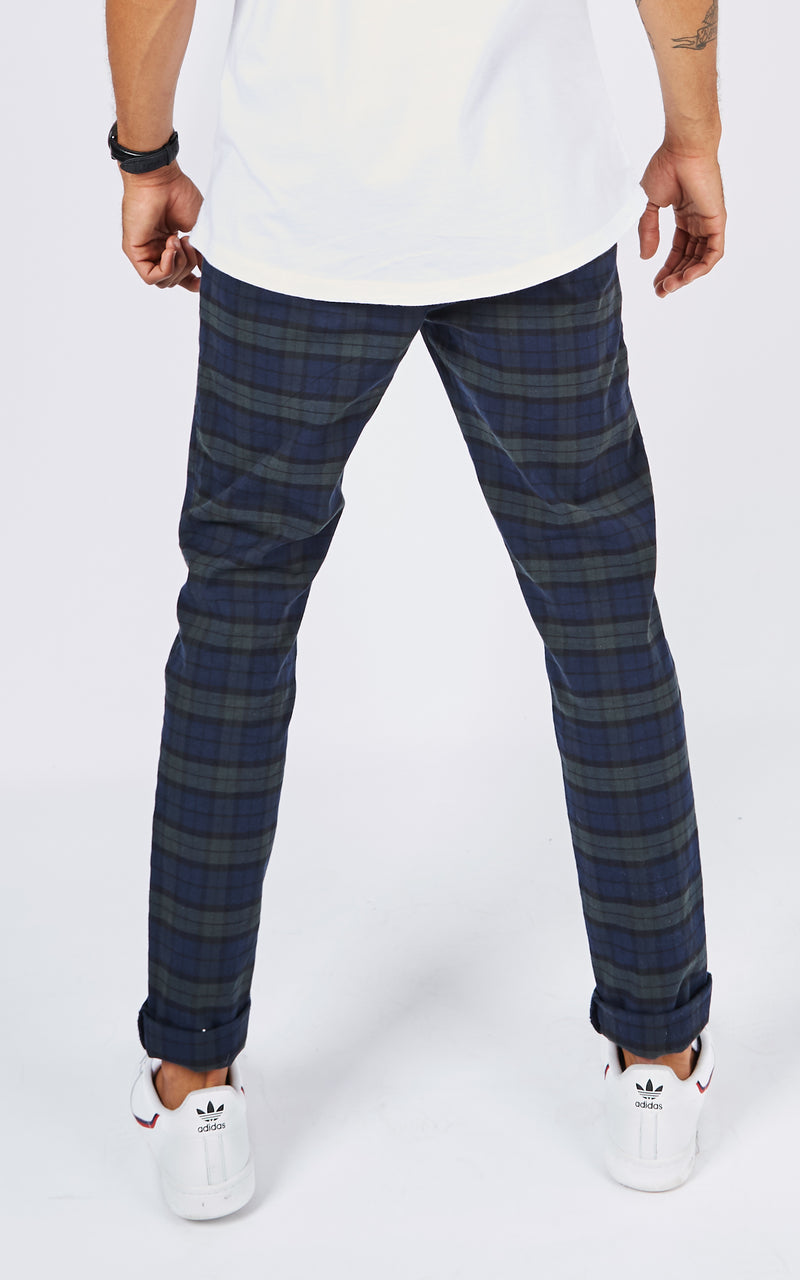 JACK CHECK BLUE CHINO