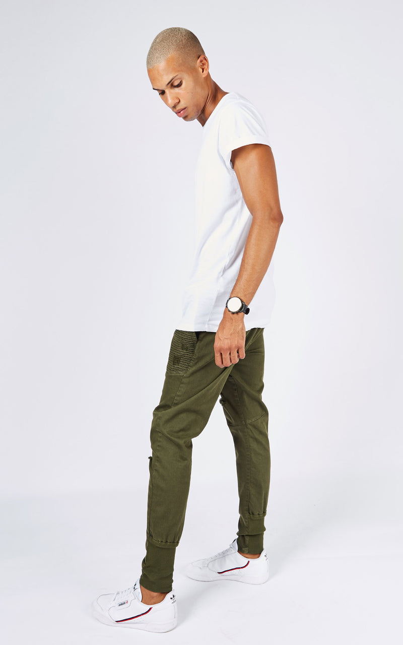 JOG MOTO FOREST GREEN PANTS