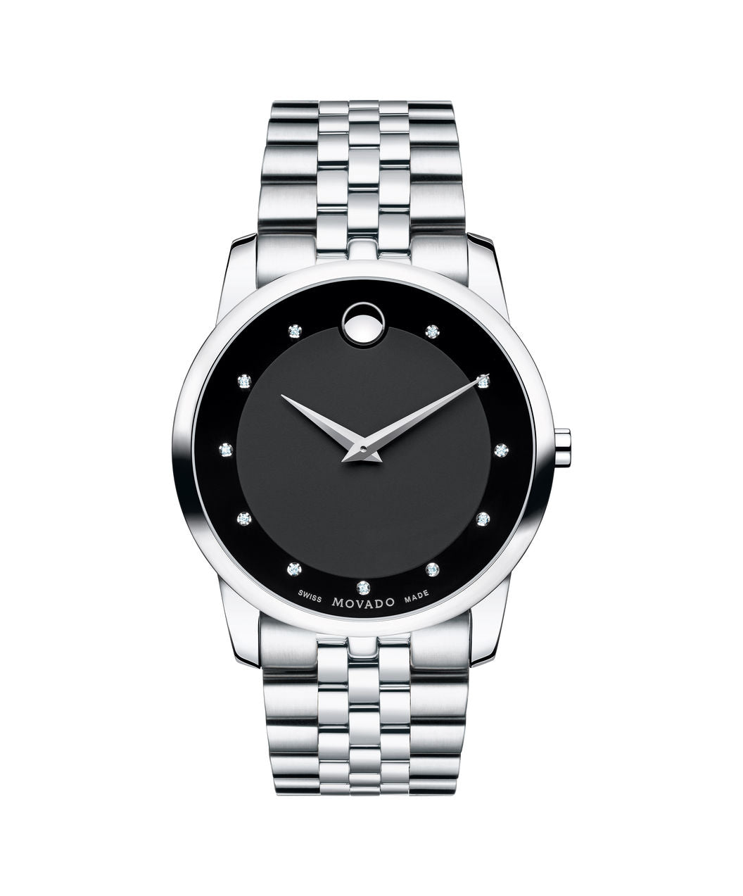 Movado Museum diamond dial on stainless steel band 40mm 0606878