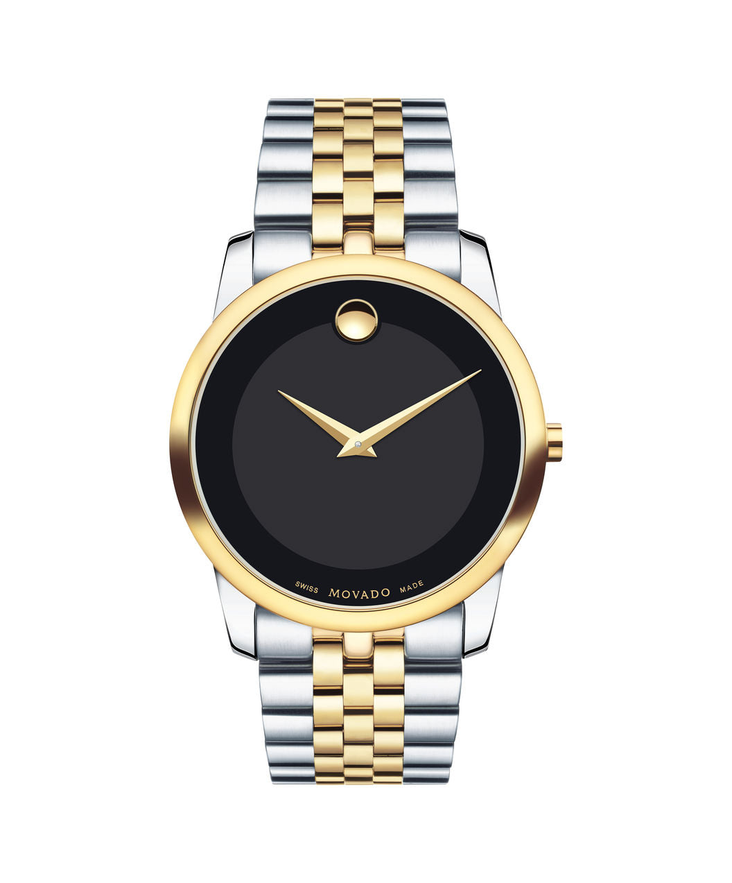 Movado Museum dial two tone case on stainless steel band 40mm 0606899
