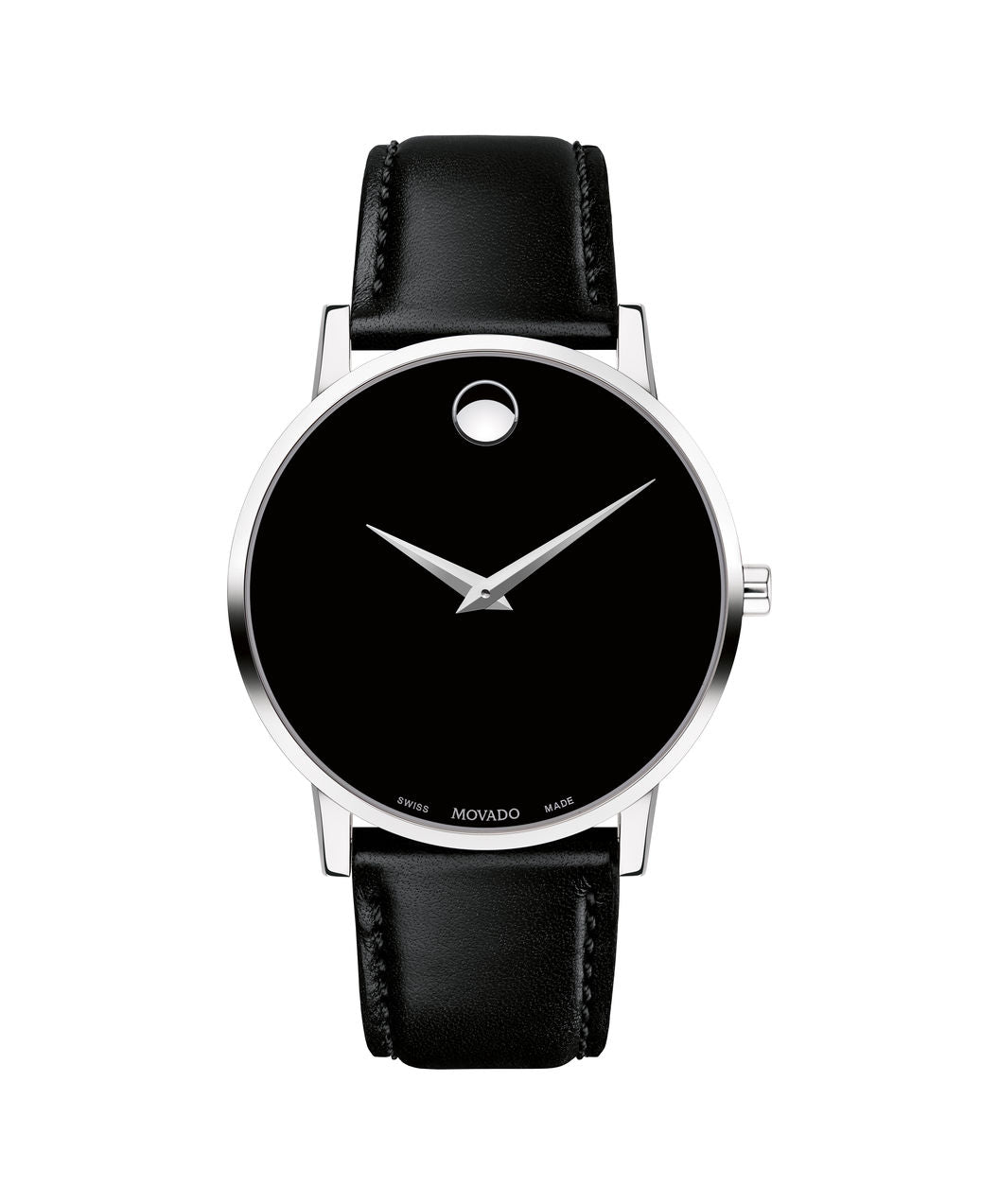 Movado Museum Men's 40mm 0607269 Stainless Steel on Leather Strap