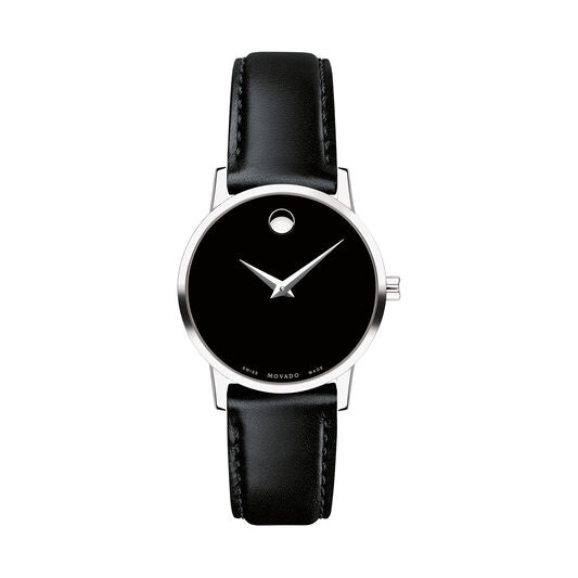 Movado Museum Classic 28mm Stainless Steel & Black Leather 0607274
