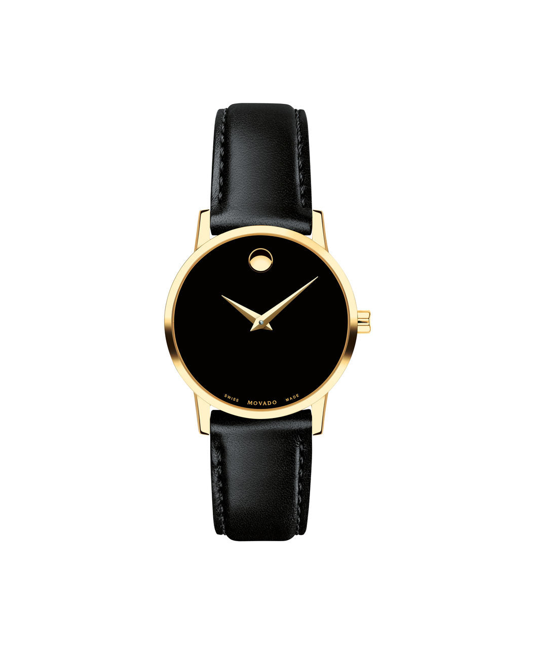 Movado Stainless Steel Black and Gold Museum 0607275