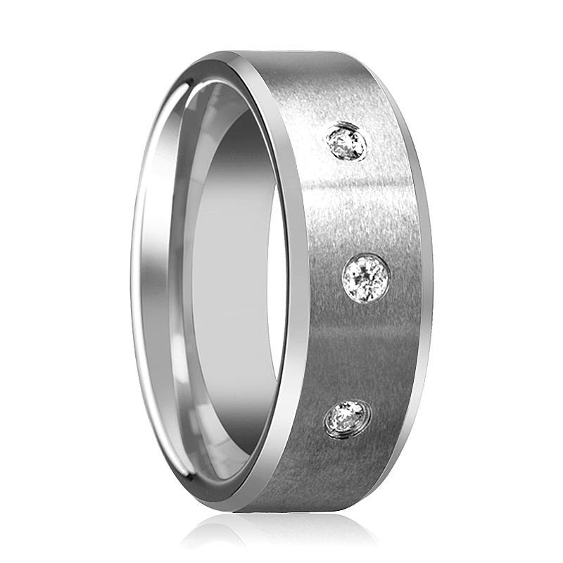 KANO Diamond Wedding Ring Beveled Edges