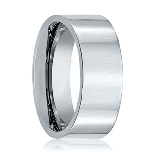 Aydins Tungsten Wedding Ring Shiny Polished Flat 6mm, 9mm, 12mm Tungsten Carbide Mens & Womens Band - AydinsJewelry