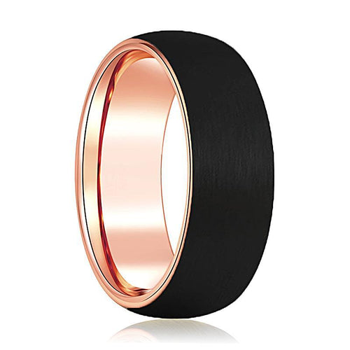 AUDI Rose Gold Tungsten Ring - AydinsJewelry