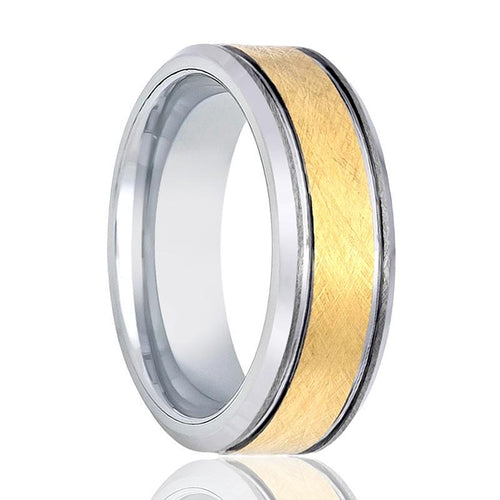 Aydin's Gold & Silver Tungsten Wedding Ring - AydinsJewelry