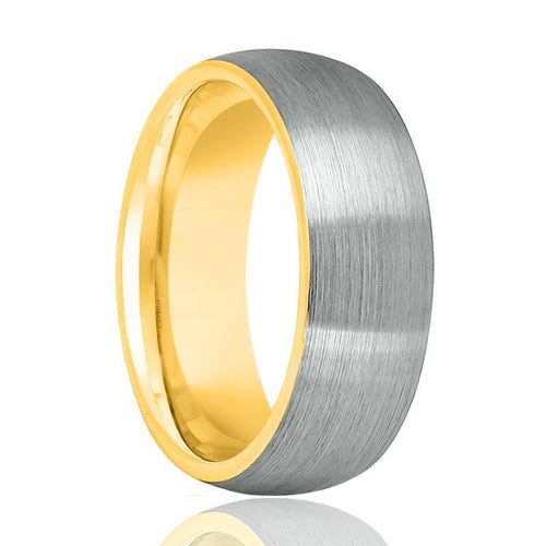 Gold Tungsten Men's Wedding Band - AydinsJewelry