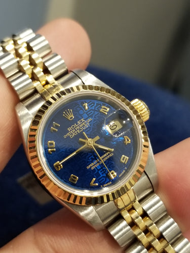 Rolex Datejust Ladies 26mm Jubilee Blue Arabic dial