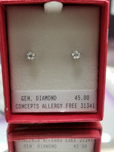 Diamond Stud Earrings $19.99