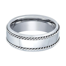 Tungsten Double Rope Wedding Band Polished