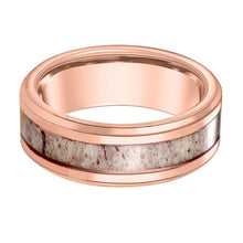 DAUER Rose Gold Deer Antler Tungsten Ring - AydinsJewelry