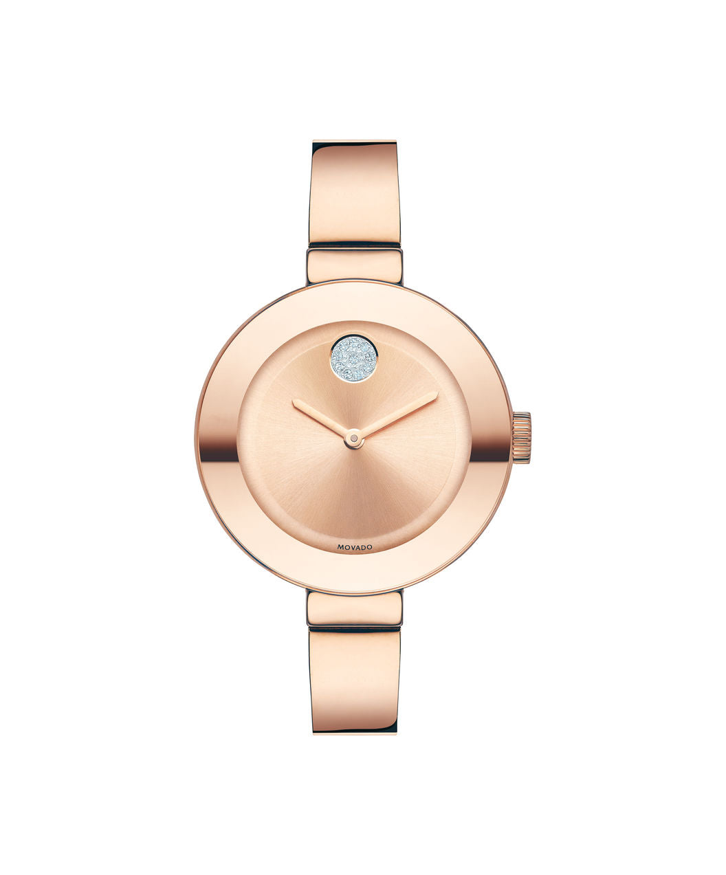 Movado Bold Ladies Stainless steel Rose Gold tone bangle 34mm 3600202