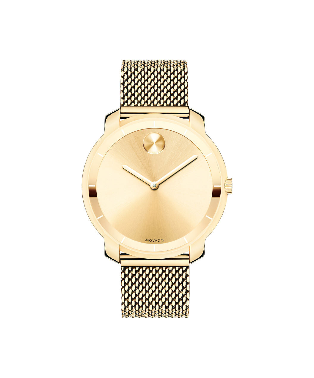 Movado Bold Stainless Steel Mesh Band Gold Tone 3600242 36mm