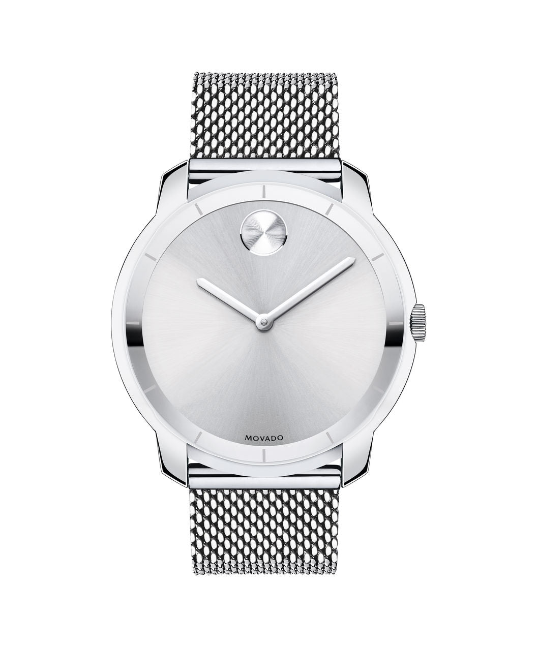 Movado Bold Stainless Steel Mesh Band 3600260 44mm