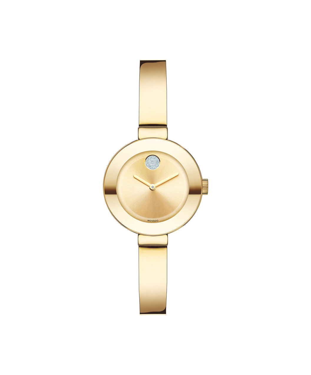 Movado Bold Ladies Stainless steel Gold tone bangle 25mm 3600285