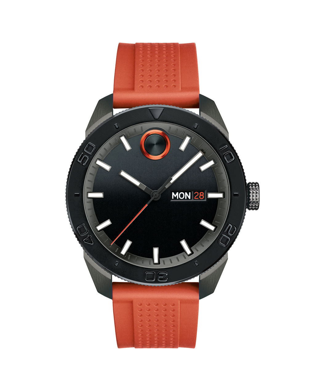 Movado Bold Stainless steel case on Orange silicone strap 43.5mm 3600453