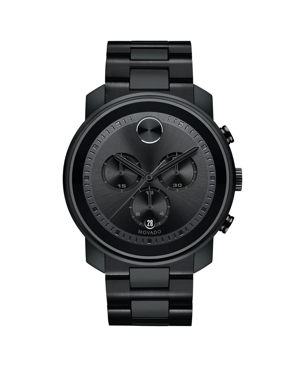 Movado Bold Stainless Steel Black  3600472 44mm