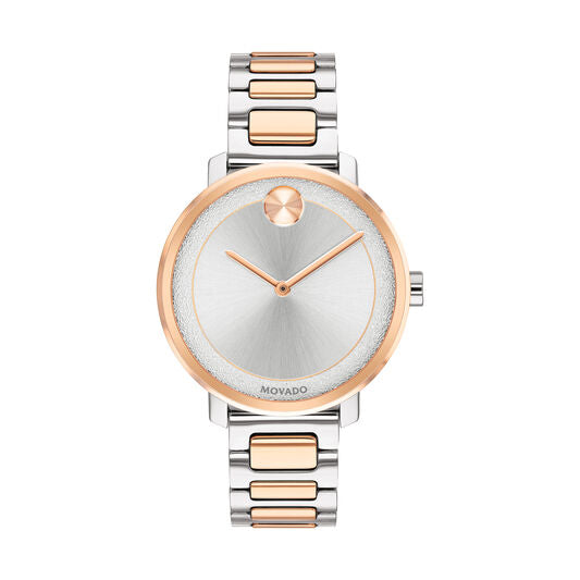 Movado Bold Women's 34mm Rose Gold and Stainless Steel Ion Plated Case 3600504