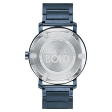 Movado Bold Evolution 40mm Blue Ion Plated Stainless Steel 3600510