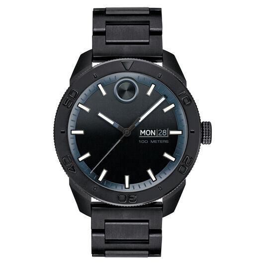 Movado Bold Sport Watch 43.5mm Black Ion Plated Stainless Steel 3600512