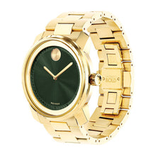 Movado Bold 42mm Gold Ion Plated Stainless Steel & Green Toned Dial 3600582