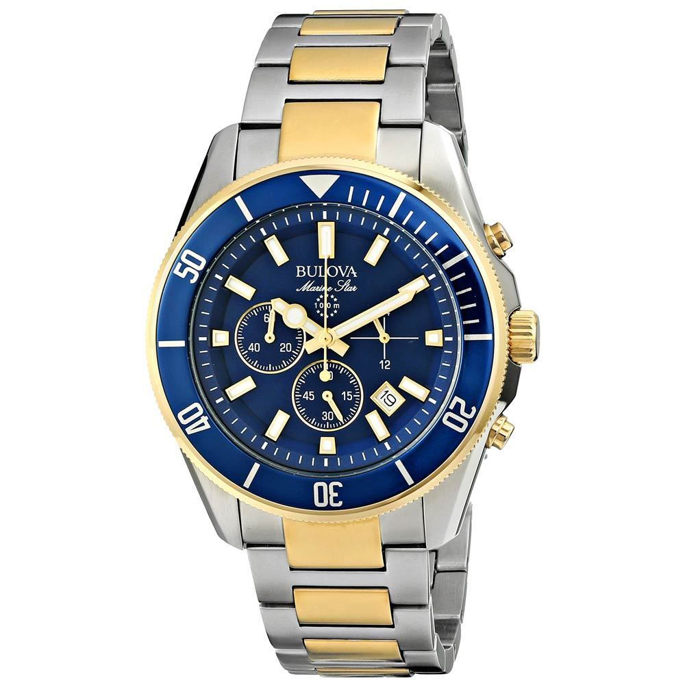 Bulova Two Tone Marine Star with Blue face  98b230