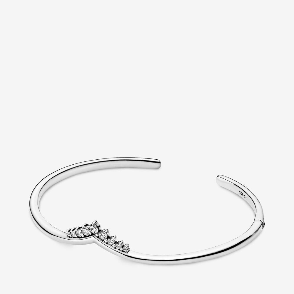 Tiara Wishbone Open Bangle