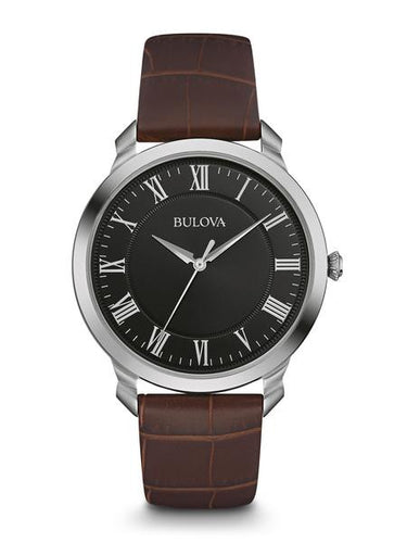 Bulova Classic Brown Leather Roman numerals