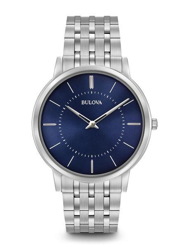 Bulova Classic Stainless steel Blue Dial 96a188