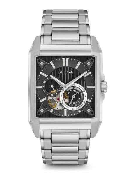 Bulova Stainless Steel Automatic Rectangle 96a194