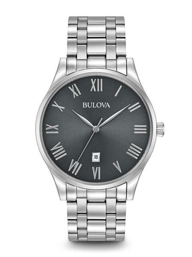 Bulova Classic Stainless steel With Roman Numerals